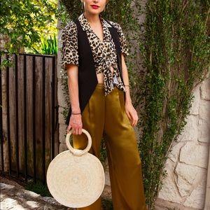 Handbags - Cult Gaia Style Woven Handbag, Made in Mexico 🇲🇽